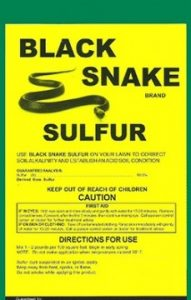 SNAKE SULFUR REPELLENT