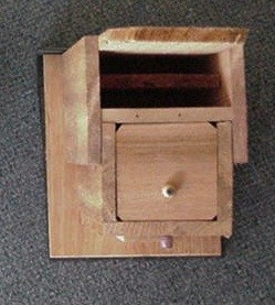 Blue Bat House Bottom View